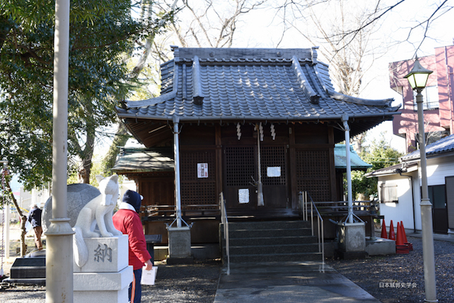 江尻城跡付近の魚町稲荷神社